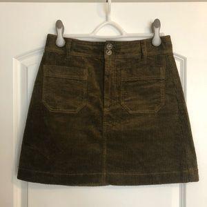 Madewell Corduroy A-Line Mini Skirt | SZ 4